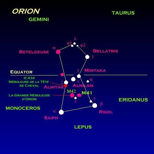Une belle comète visible à l'œil nu à côté d'Orion et du Taureau Orion